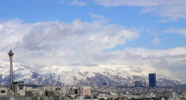 Tehran winter landscape