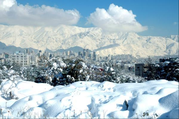 Tehran covered in snow