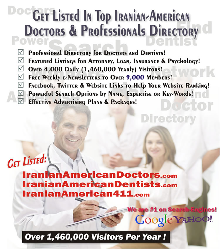 Join Iranian-American doctors Directory